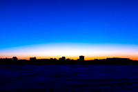 Mid Winter Skyline - Yellowknife