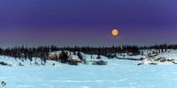 Yellowknife Bay Moonset